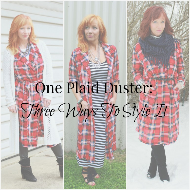 Plaid duster collage2