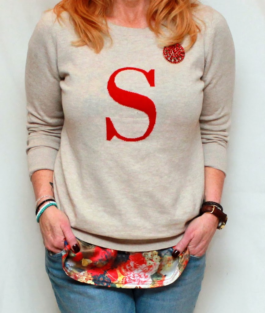 The Scarlet Letter: Monogrammed Sweater And Boyfriend Jeans ...