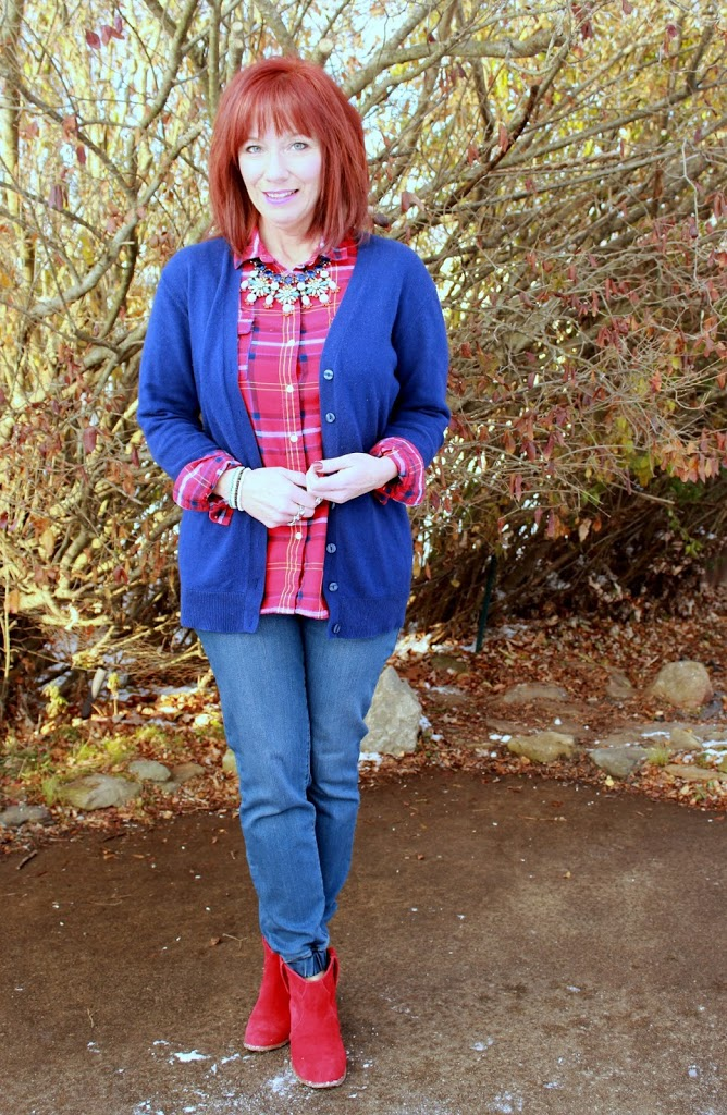 Blown Away And A Giveaway Plaid Flannel Button Down