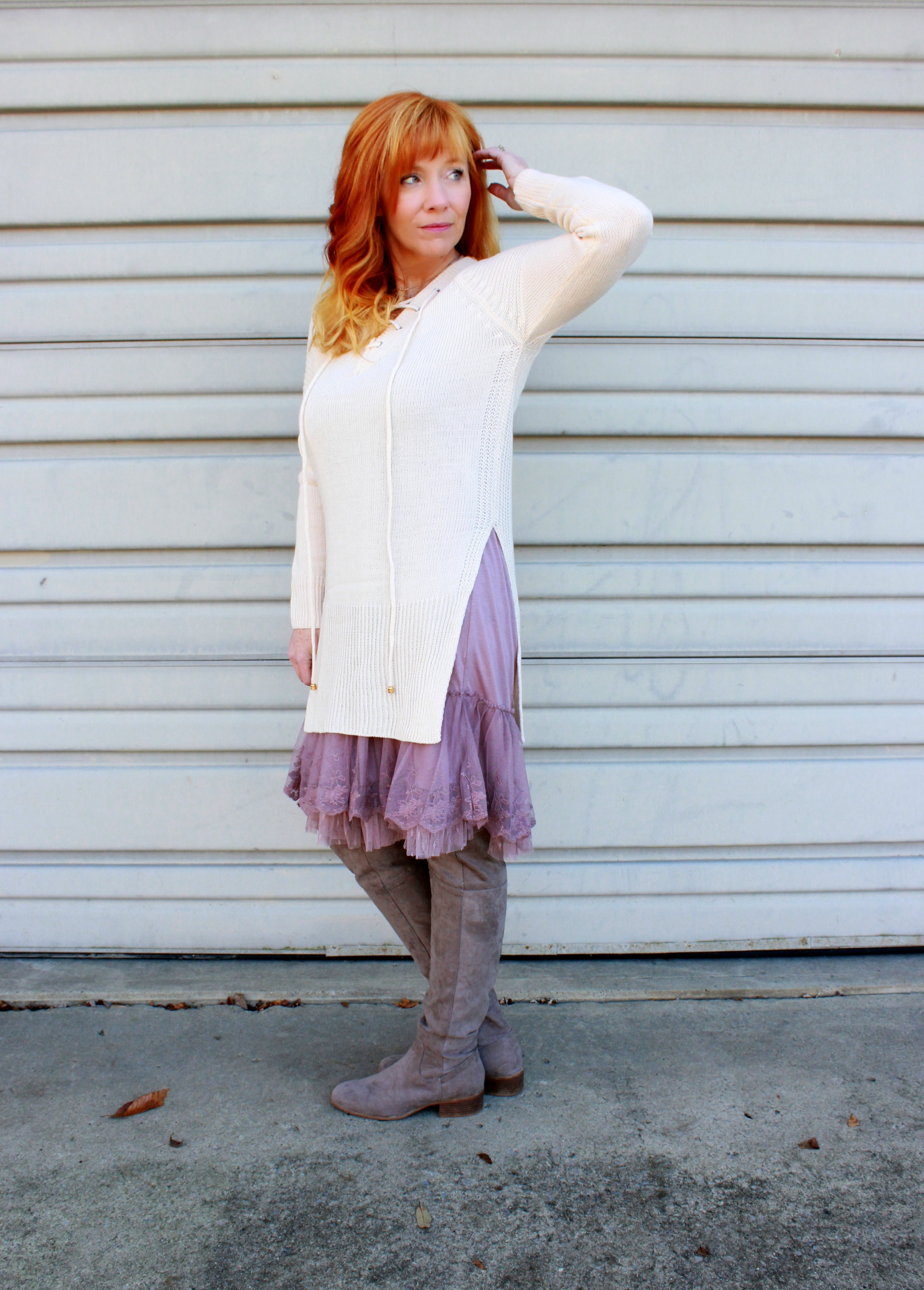 Lace Slip Dress Amp Tunic Sweater It S Really Really