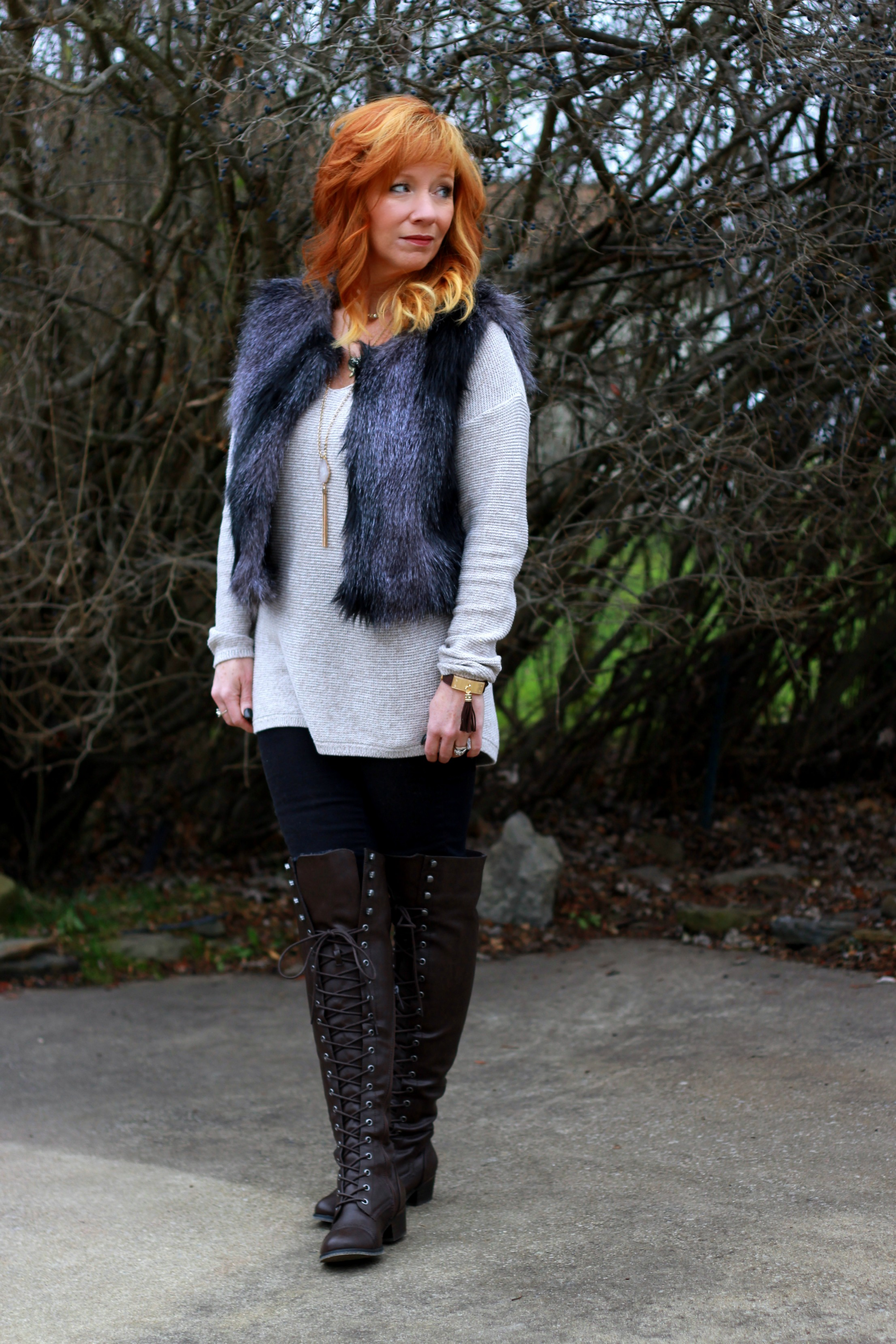 8b17833cf7f Over The Knee Boots & Faux Fur Vest: I Was A Very Good Girl ...