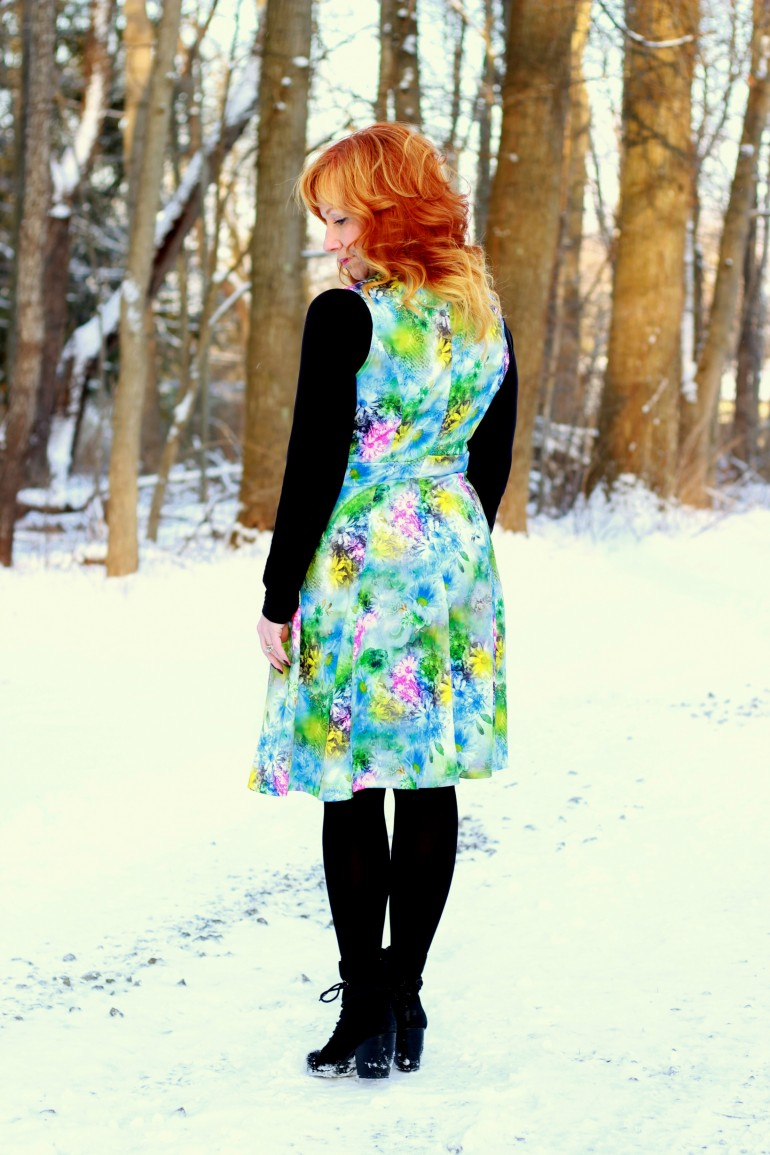 Floral Fit And Flare Dress The Blanket Scarf Phenomenon