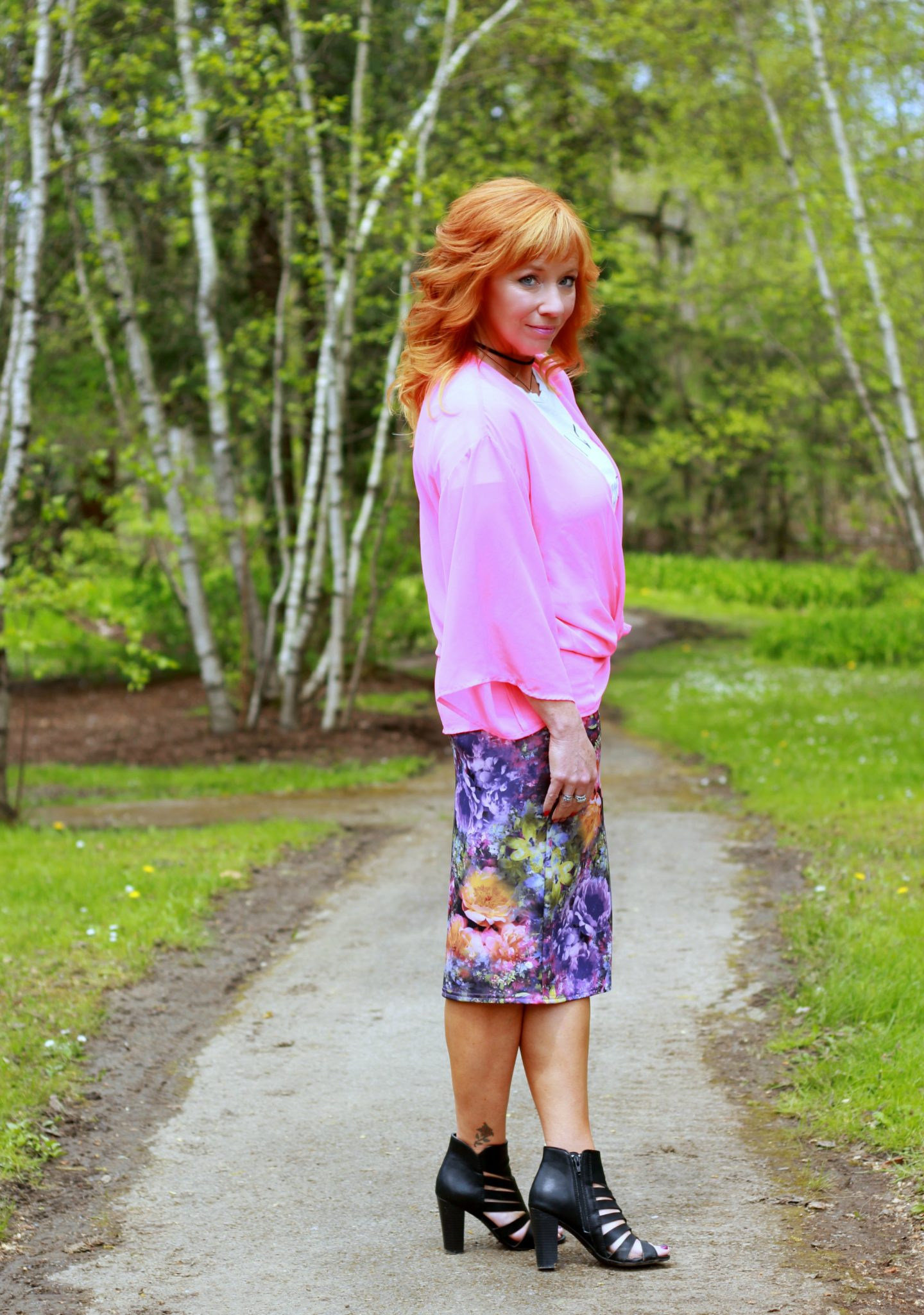 Floral Pencil Skirt & Pink Kimono: The Mother/Daughter Bond Pt. 2
