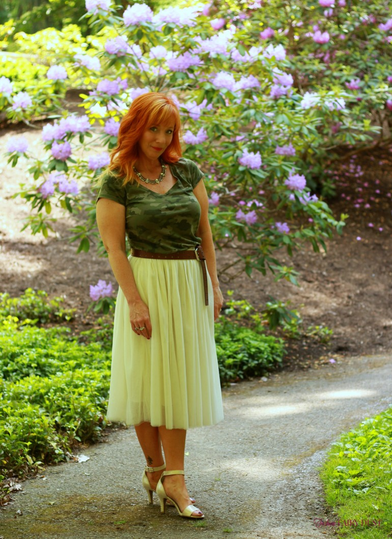 Tulle Skirt Amp Camo Tee Shirt The Big Day Fashion Fairy Dust