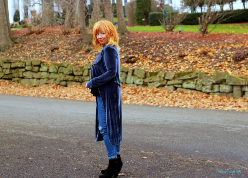 Blue Velvet Duster & Distressed Skinny Jeans: The Essence Of Who We Are