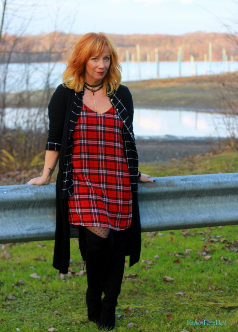 Plaid Slip Dress Amp Otk Boots The End Of The Magic