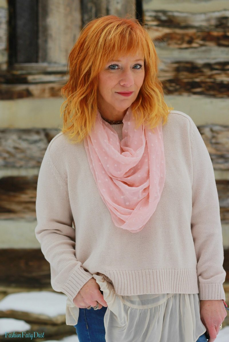 Pink coat, lace up Bearpaw boots and skinny jeans. How to look stylish when it's cold outside