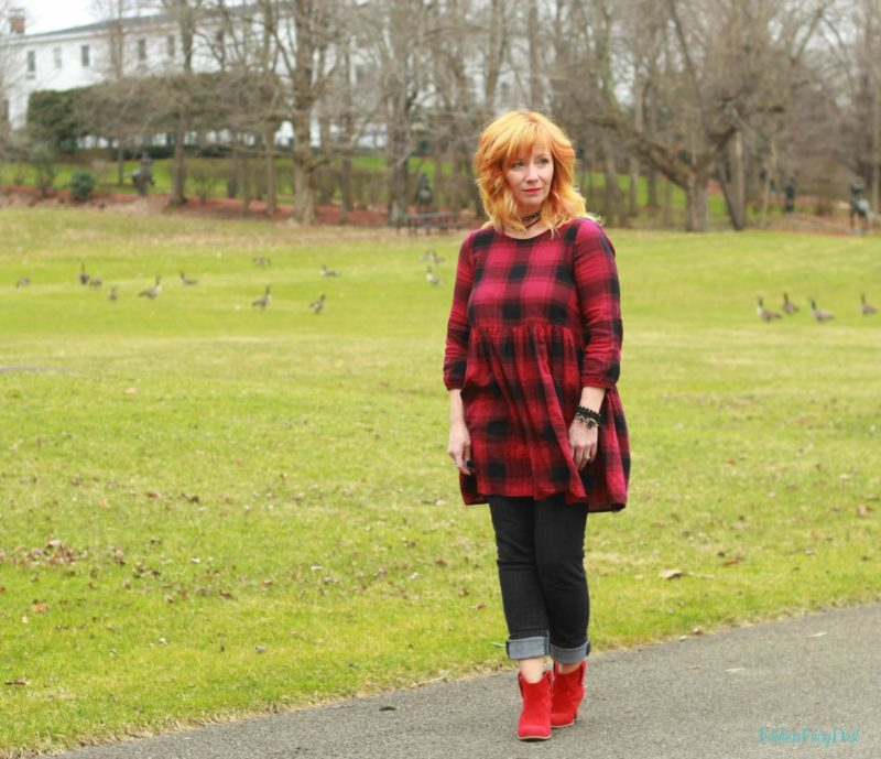 Buffalo Plaid Tunic Amp Black Skinny Jeans Sky Beasts