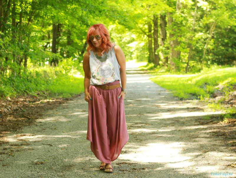 Graphic Tank Top & Flowy Pants: Rebel With A Cause