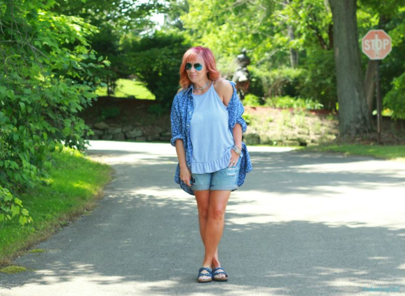 Peplum Tank Top & Men's Button Down: Printer Gone Rogue
