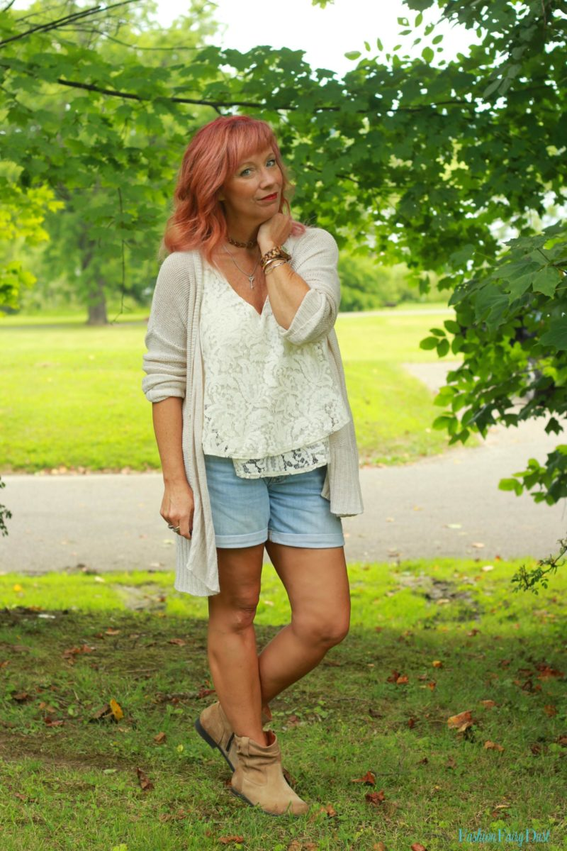 Lace Tank Top Amp Open Weave Cardigan An Easy Way To