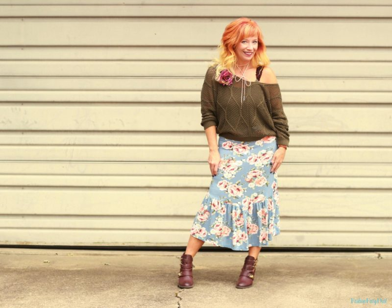 Floral Boho Midi Skirt & Ankle Boots: Things Are Not Always As They Appear