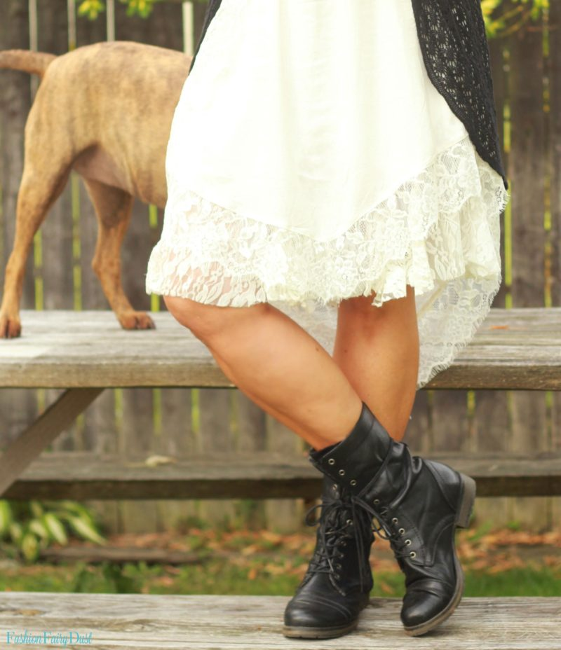White Slip Dress Amp Combat Boots Opinion Vs Negativity