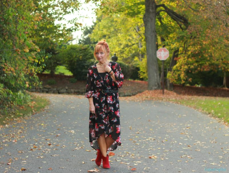 Kimono Styled As A Dress: Tis' The Season