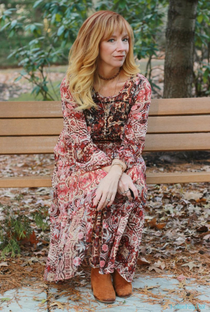 Boho Midi Dress Amp Over The Knee Boots Perversion Of The