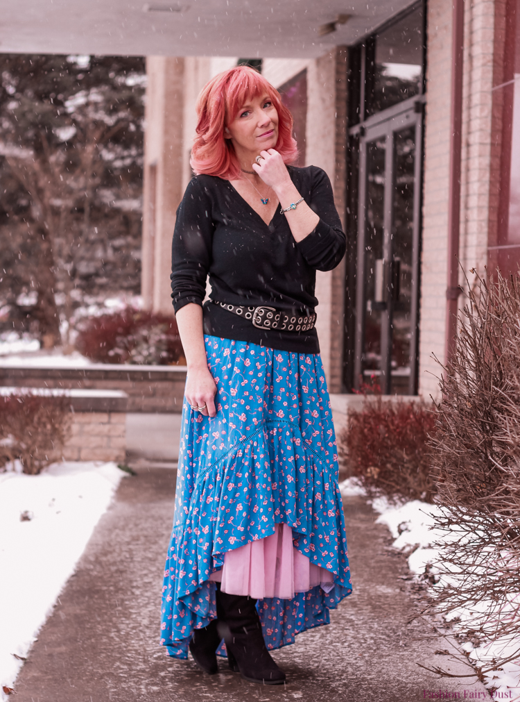 High Low Skirt Amp Otk Boots The World Of No Fashion